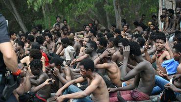 Plus de 150 migrants ont franchi la clôture séparant le nord du Maroc de l'enclave espagnole de Ceuta, le 30 août 2019
