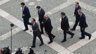 Les chefs d'Etat et de gouvernement des sept pays du contour méditerranéen à Lisbonne ce samedi 28 janvier