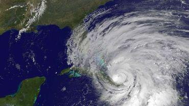 L'ouragan Sandy au-dessus de Cuba et de la Jamaïque
