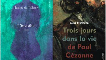 """Couvertures de """"L'invisible"""" et de """"Trois jours dans la vie de Paul Cézanne"""""""