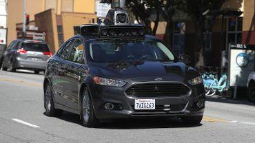 Une voiture autonome d'Uber à San Francisco en 2017