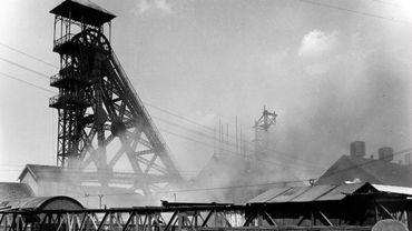 Le site du Bois du Cazier le 8 août 1956