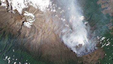 Photo satellite de l'incendie