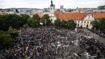 """Les participants se sont réunis, samedi 20 juin, """"contre l'islamisation de l'Europe""""."""