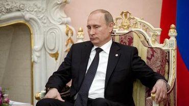 Le président russe Vladimir Poutine à erevan le 24 avril 2015