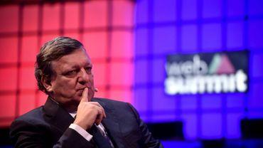 L'ex-président de la Commission européenne, José Manuel Barroso, lors d'un sommet sur les technologies du net à Lisbonne, le 7 novembre 2016