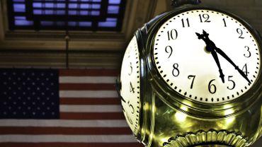L'horloge mythique de la station de Grand Central, à New York.