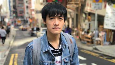 Andy Chan dans les rues de Hong Kong, novembre 2019