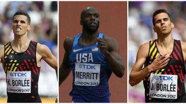 """Kevin et Jonathan Borlée et Merritt les """"dinosaures"""" des demies du 400 m"""