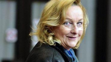 La ministre autrichienne des Finances Maria Fekter, le 24 mars 2013 à Bruxelles