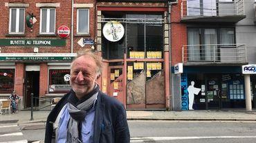 """Jean-Jacques Vandenbroucke, président de l'asbl Open Music, devant """"Le Club"""""""