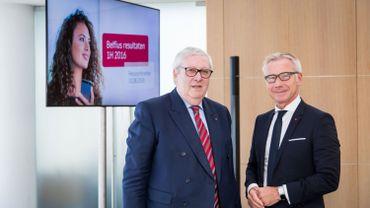 Jos Clijsters et Marc Raisiere de Belfius. Le CA de la banque a remis son avis au gouvernement.