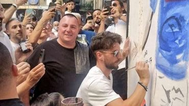 Dans la légende du club, Dries Mertens s'affiche désormais sur les murs de Naples