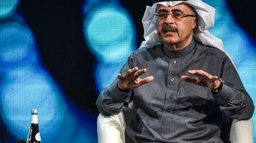 Le PDG d'Aramco Amin Nasser lors d'une conférence sur les investissements à Ryad, le 27 janvier 2021