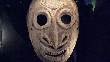 Masques, la collection du Quai Branly à la Cité Miroir : Océanie, masque Sepik, Papouasie-Nouvelle-Guinée