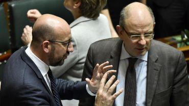 Le Premier ministre Charles Michel (MR) et le ministre de la Justice, Koen Geens (CD&V)