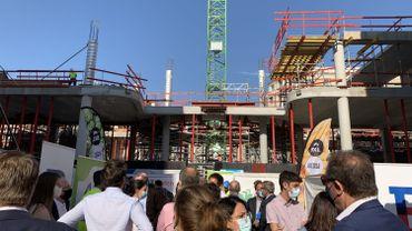 Bruxelles : pose symbolique de la première pierre du nouveau centre administratif communal