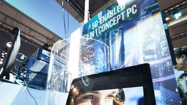 Intel a fait la démonstration d'un PC compatible 5G au Mobile World Congress 2018.