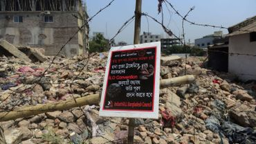 Les décombres de l'immeuble effondré du Rana Plaza
