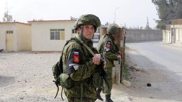 Soldats russes en Syrie