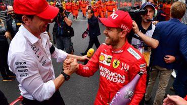 Toto Wolff et Sebastian Vettel