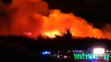 Sur Twitter, des vidéos de l'incendie ont été partagées