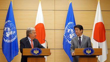 Antonio Guterres a fait ces déclarations après des discussions avec le Premier ministre japonais Shinzo Abe à Tokyo.
