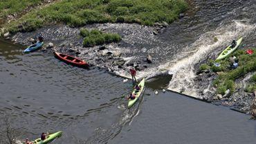 Des kayaks sur la Semois à Chiny