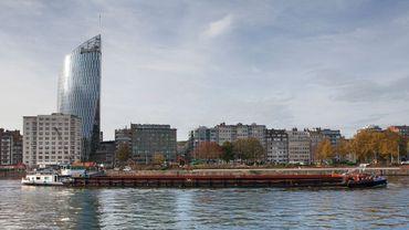 La tour Paradis, ou tour des finances, vue par ses architectes Jaspers, Jaspers et Eyers