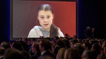 Greta Thunberg au forum économique de Davos le 21 janvier 2020