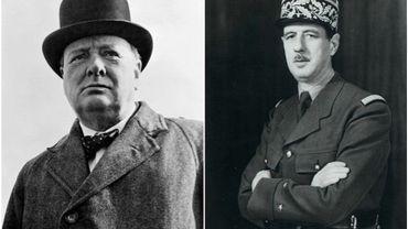 """Churchill et De Gaulle: """"Deux caractériels qui se haïssent autant qu'ils s'estiment"""""""
