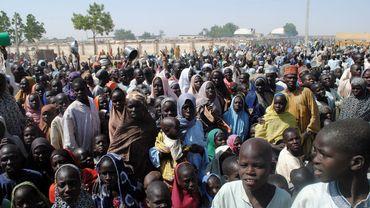 Un camp de personnes déplacées à cause de Boko Haram dans le nord du Nigéria