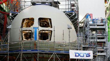 Le sous-marin nucléaire le Suffren, le 4 décembre 2016, à Cherbourg-Octeville