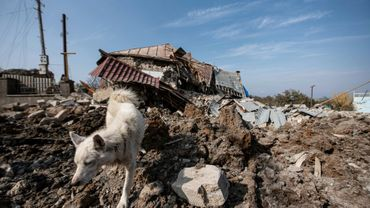 Une maison détruite par un bombardement à Choucha, le 28 octobre 2020 en Azerbaïdjan