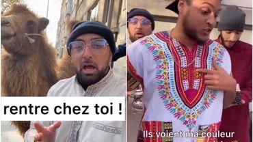 Un groupe de rap Bruxellois pousse un coup de gueule contre le racisme devant le siège du Vlaams Belang