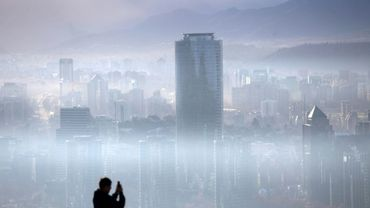 Pollution sur Santiago du Chili le 9 juillet 2018