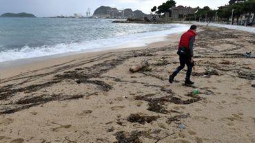 La plage de La Ciotat polluée aux hydrocarbures, le 1er novembre 2018
