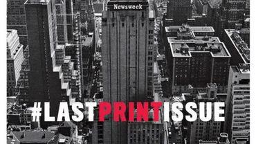La dernière Une papier du magazine américain Newsweek