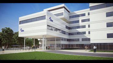 L'entrée principale de la future clinique du MontLégia