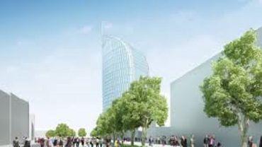 La future Tour des Finances dans le quartier des Guillemins - RTBF