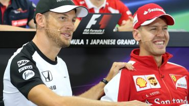 Jenson Button et Sebastian Vettel