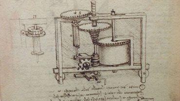 Une boîte de vitesse dessinée par Léonard de Vinci