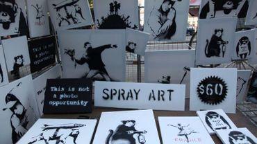 Des oeuvres de Banksy à 60 dollars sur un trottoir de New York
