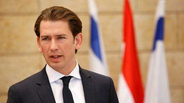 Le chancelier autrichien Sebastian Kurz à Jerusalem, le 10 juin 2018