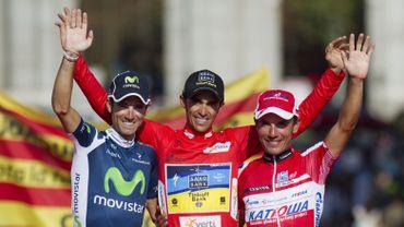 Le podium de la Vuelta 2012