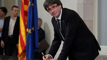 Le président catalan Carles Puigdemont, le 10 octobre 2017 à Barcelone