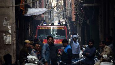 Des dizaines de morts dans l'incendie d'une usine à New Delhi
