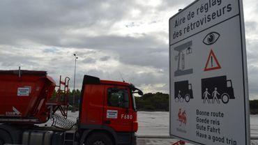 Cette première aire wallonne implantée sur le site de la CCB servira aux camionneurs se rendant à l'entreprise où circulent environ 1000 poids lourds par jour.