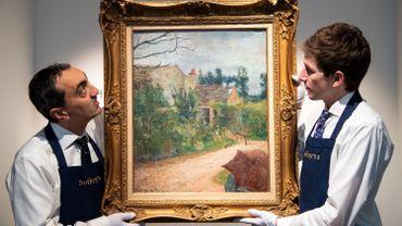 """Ce tableau de Gauguin, """"Le Jardin de Pissarro, Quai du Pothuis"""", dont la valeur est estimée entre 600.000 et 900.000 euros, n'a été montré en public que deux fois en 140 ans"""