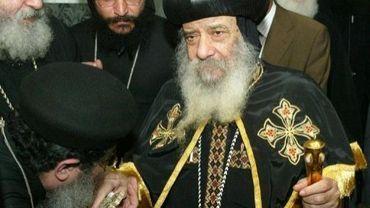 le patriarche Shenoude III, le 8 juillet 2004 en Autriche
